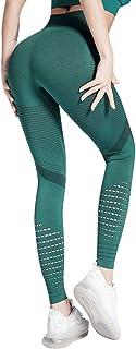 Voqeen Leggings Deportivos Mujer Cintura Alta Pantalones De Yoga De Malla para Running Training Fitness Estiramiento y Pil...