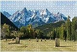 Tramonto dorato sul campo della fattoria con balle di fieno Grande puzzle da 500 pezzi per adulti Giocattolo educativo per adulti Bambini Grande gioco di puzzle Giocattoli Regalo-PUZZLE