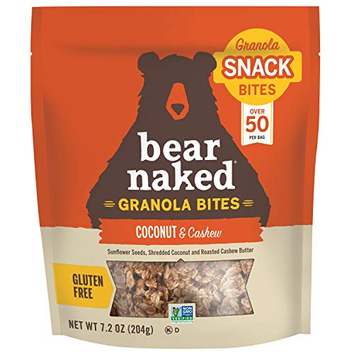 Bear Naked, Coconut Cashew, Granola Bites, Gluten Free, Non-GMO Project Verified, Kosher, Vegan, 7.2oz(Pack of 6)