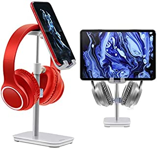 Phone Stand | ESOLÉI Headphone Stand & Phone Holder | Rotate360° | Sturdy Heavy Base | Adjustable Height Angle | Headset Stand | iPad Stand | Samsung Tablet Stand | Aluminium | Silver (B08GJW5SXM) | Amazon price tracker / tracking, Amazon price history charts, Amazon price watches, Amazon price drop alerts