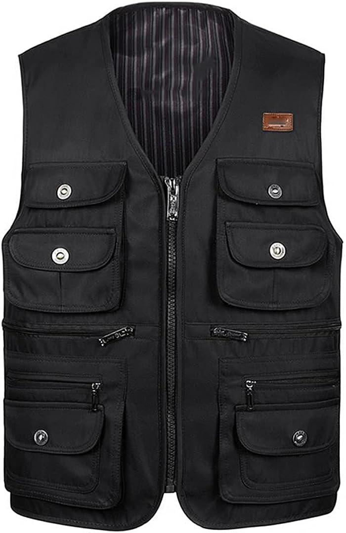 Men's Thin Multi-Pocket Vest Photographer Sleeveless Jacket Vest