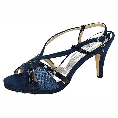 XTI 30679 Tacones Finos Azul Mujer Sandalias TACÓN Azul 37