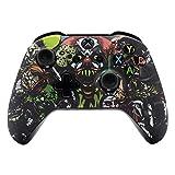 eXtremeRate Carcasa para Xbox One Funda Delantera Carcasa Frontal Kit de reemplazo Tacto Suave Placa Frontal para Mando Controlador de Xbox One X Xbox One S-Modelo 1708(Fiesta de Miedo)