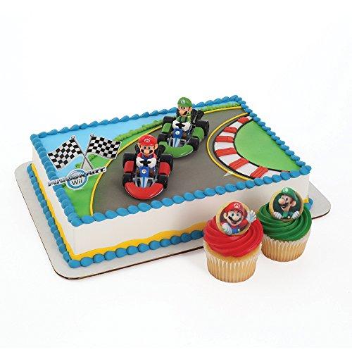 Mario Kart Birthday Cake & Cupcake Toppers Set