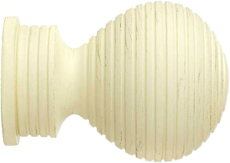 35 mm inserciones de punta de bola de madera para suelo crema Florón 1 pck de 2