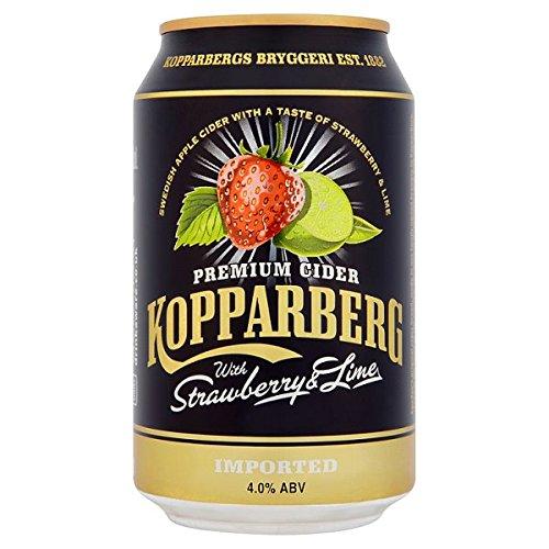 Kopparberg Premium Cider mit Erdbeer-Lime 10 x 330ml (Pack of 10x330m)