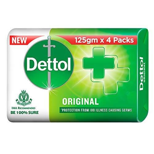 Dettol Original Germ Protection Bathing Soap bar, 125gm (Pack of 4)