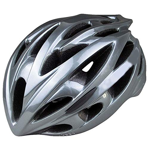 U/D Men and Women Fashion Lightweight One-piece Mountain Bike Road Bike Bicycle Cycling Helmet (Color : Gray)