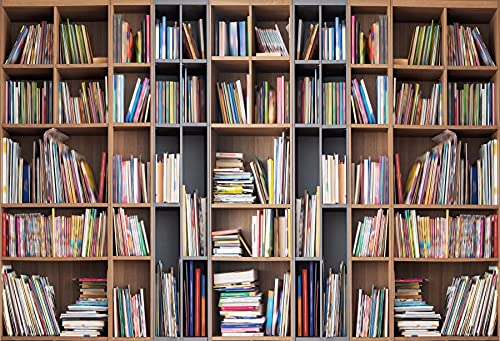 Library Interior Bookshelf Books Photography Backgrounds Photographic Backdrops For Photo Studio A2 9x6ft/2.7x1.8m