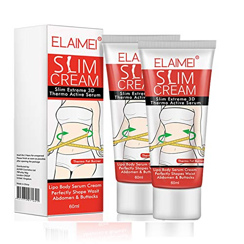 2 pack Fat Burning Slimming Cream, Hot Cream for Men and Women, Weight Loss Cream, Sculpt Stomach Abdominal Belly Muscles, Anti-Cellulite Firming Gel