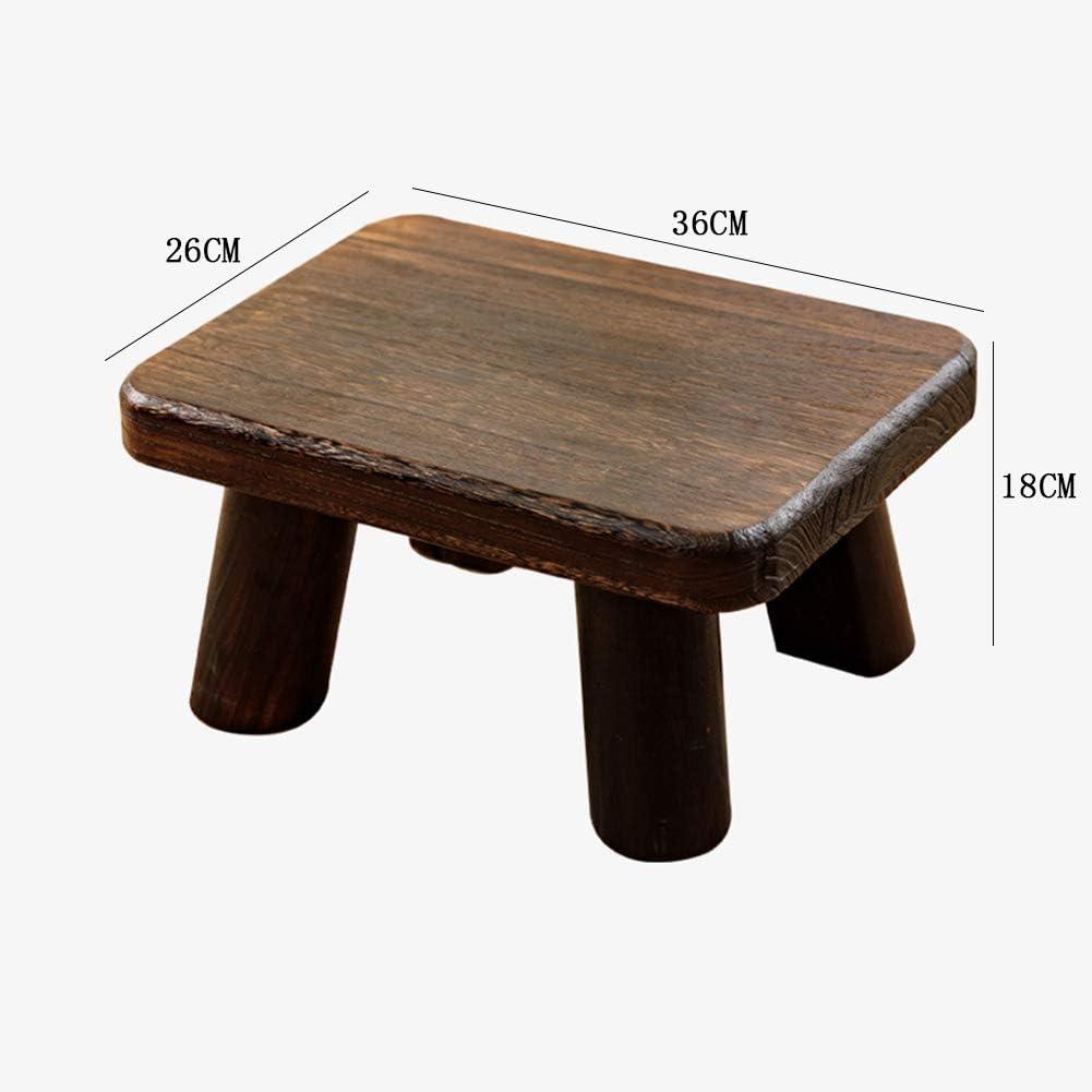 Tabouret à Langer en Bois Massif Tabouret de Table Basse Chaise à Langer, Forte capacité de Charge, sécurité 4 Jambes, Facile à Installer, Naturel D C