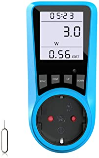 Medidor de costes de electricidad, BMK, medidor de potencia, medidor de costes de energía, medidor de potencia, con pantal...