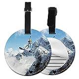 Etiquetas para Equipaje Bolso ID Tag Viaje Bolso De La Maleta Identifier Las Etiquetas Maletas Viaje Luggage ID Tag para Maletas Equipaje Snowboarder Impresionante