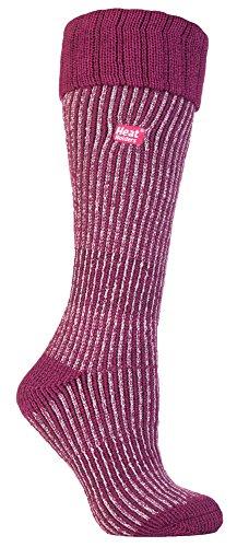 Heat Holders - Damen wärme winter thermosocken für gummistiefel stiefelsocken in 4 Farben 37-42 EUR (New Long Boot), Berry / Light Pink, Medium