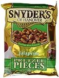 Snyder's Jalapeno Pretzel Pieces 125g - Paquete de 10