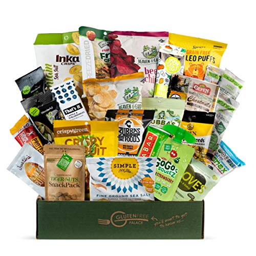 PALEO SNACKS Variety Pack for Adult | Healthy Snack Box includes Gluten Free Vegan Snacks [25 Count] Mix of Whole Foods, Protein Bars, Crackers, Chips, Puffs, Fruit & Nuts by Snack Attack