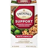 Twinings of London Daily Wellness Tea, Support Healthy Immune System White Hibiscus, Lime & Ginger,...