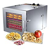 ZXMOTO Commercial Food Dehydrator 10 Trays Stainless Steel Jerky Dehydrator 110V 1000W Meat...