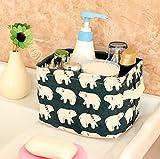 Leisial Aufbewahrungsbox für Baumwolle und Wäsche, Aufbewahrungstasche aus wasserdichtem Material, Griffe beidseitig für Kleidung von Kindern mit niedrigem Alter oder Haustier-Zubehör, style D, 20.5×16.5×13.5cm - 7