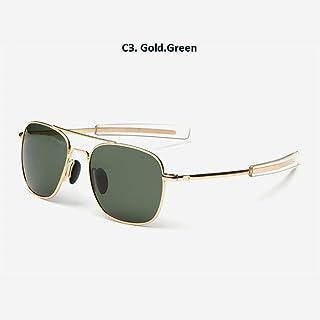 Gafas De Sol American Gold Verde Militar del Ejército De Aviación Gafas De Sol Polarizadas Gafas