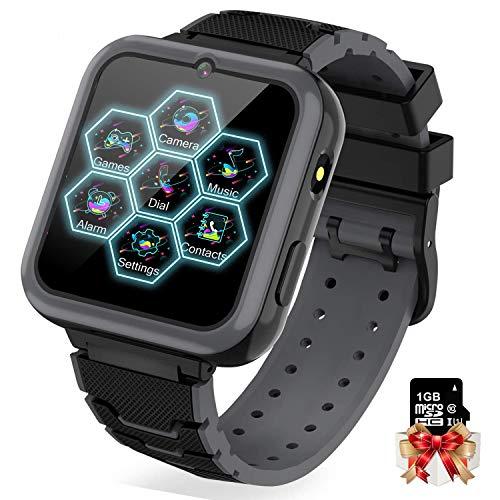 Orologio Intelligente Bambini con 7 Giochi - Musica MP3 Smartwatch Bambini, Orologio Intelligente Bambini con Telefono Allarme Camera Calcolatrice Torcia Elettrica, Regali per Ragazze Ragazzi Bambini