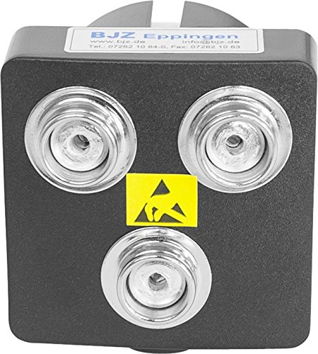 BJZ Erdungsbaustein mit 3 Druckknopfanschlüssen 10,3 mm (1 Mohm)