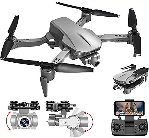 Drone con cámara Drone Plegable con cámara 4K HD FPV WiFi RC Quadcopter, Control de Gestos, Vuelo de trayectoria, Vuelo en círculo, rotación de Alta Velocidad, Volteretas 3D, Sensor G, Modo sin cabez