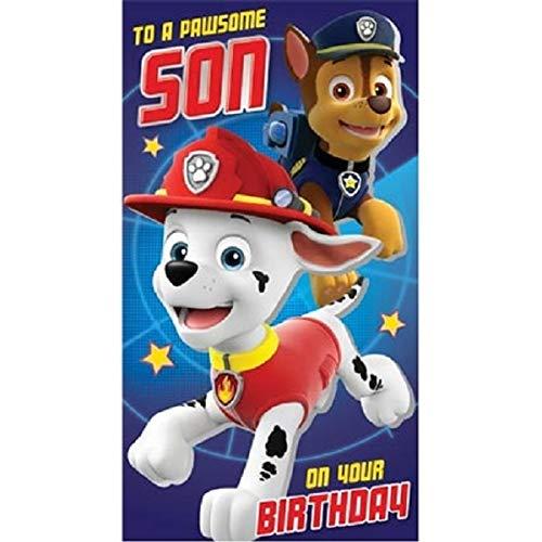 Paw Patrol verjaardagskaart voor de zoon