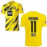 PUMA Borussia Dortmund BVB Heimtrikot 2020 2021 Home Trikot Sponsor BL Logo Kinder Marco Reus 11 Gr 152