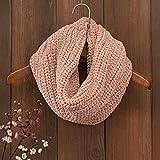 Burhetten Patrón de Punto for Mujer del Babero de la Bufanda de Ganchillo Abotonado Abrigo Rosa Babero (Color : Pink)