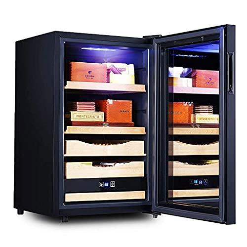 QHHALXZ Gabinete de cigarros Caja de cigarros hidratante de Temperatura Constante Gabinete de Cigarrillos de Oficina pequeña Gabinete de Almacenamiento de cigarros Estante de Madera de Cedro