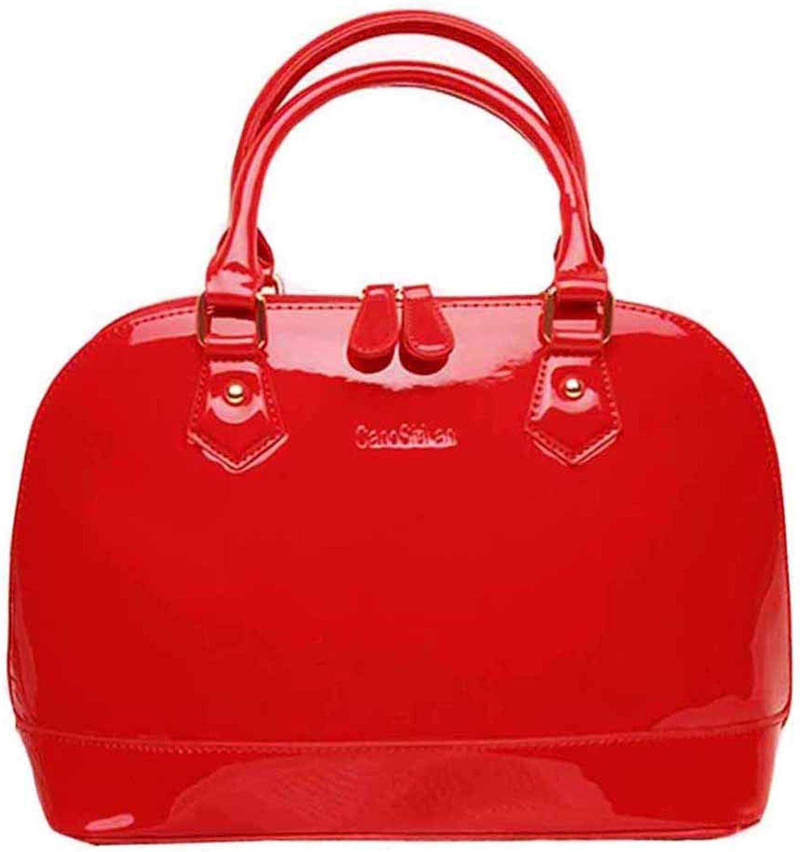 Buddy Fashion Shoulder Bag Patent Leather Handbag Tote Satchel Purse Top Handle Bag