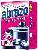 abrazo Topf & Pfanne Reinigungskissen antibakteriell Reinigungs-Schwamm Topfreiniger Grillreiniger & Backofen-Reiniger Stahlwolle vegan 8 St
