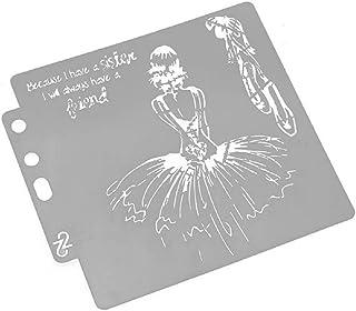 Hothap - Plantillas de estampación para niñas, para Pintar, Aprender a Decorar la Pared