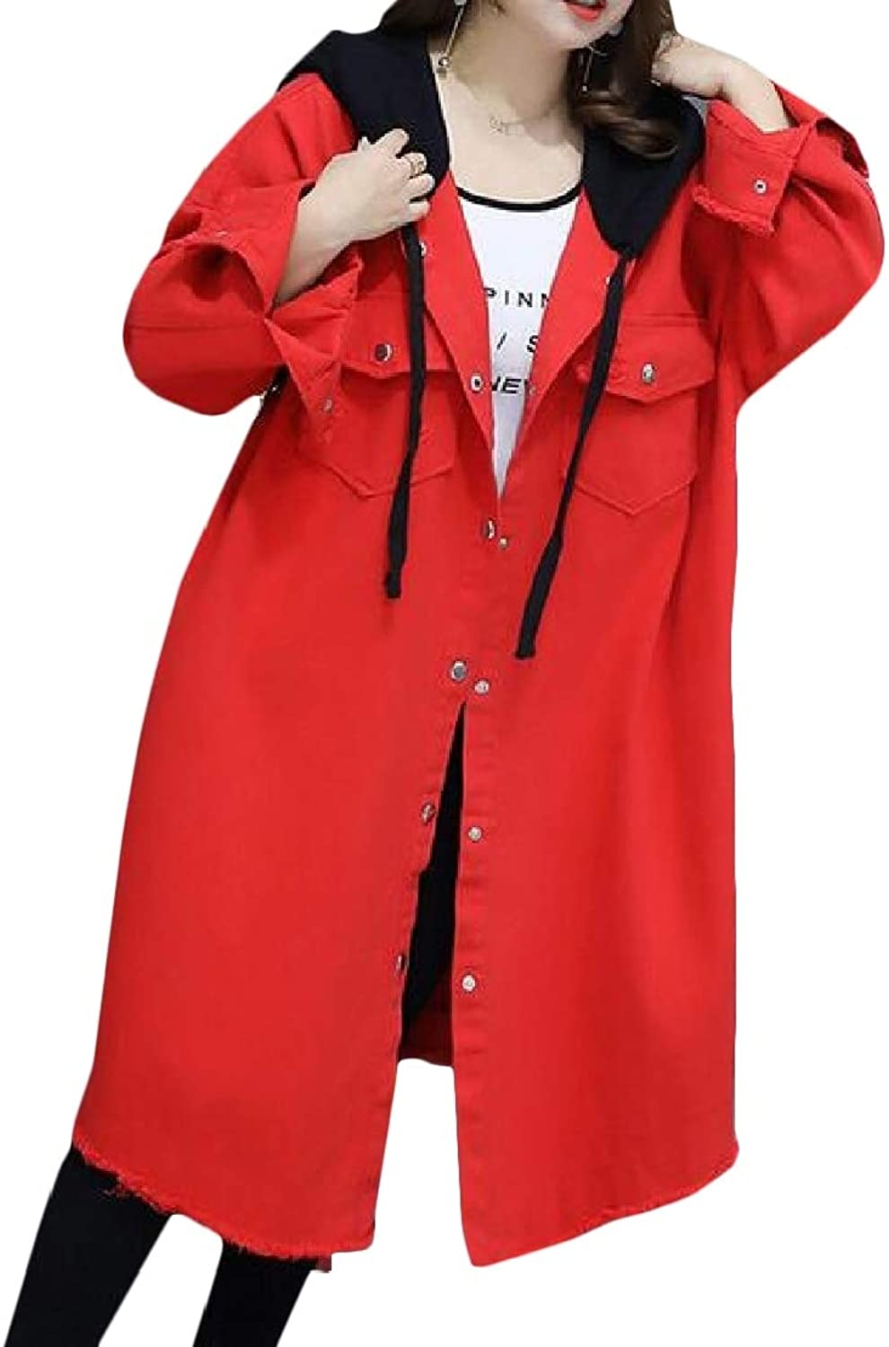 BESBOMIG Casual Trench Coat Lady Double Breasted Elegant Winter Jacket Keep Warm