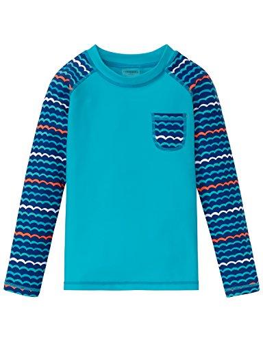 Schiesser Jungen Wal Willy Bade-Shirt Badehose, Blau (Türkis 807), 128