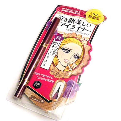 BestOfferBuy Kiss Me Weicher Flüssiger Eyeliner Ultra Dünn Makeup Schwarz Japan
