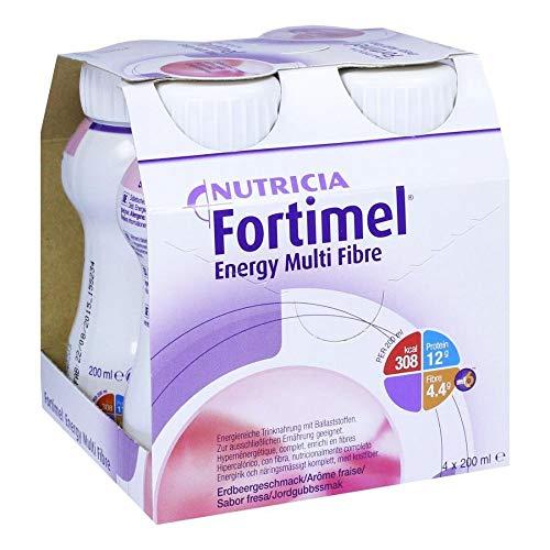 No FORTIMEL Energy de fibra de fresa sabor 800 ml líquido