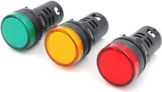 Sourcingmap Signalleuchten AC 220 V rote LED-Anzeige 22 mm 5 St/ück b/ündige Panelmontage