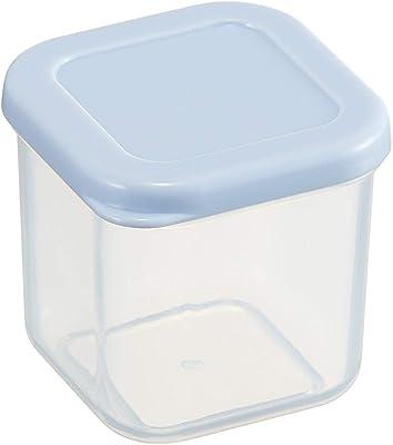 スケーター 保存容器 小分け 作りおき 容器 シール容器 100ml 角小4個 レンジ対応 ブルー CCBC4