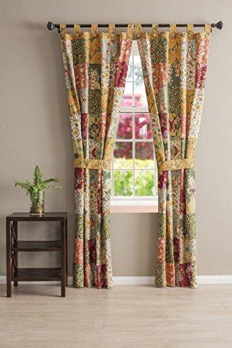 Chic Authentic Patchwork Curtain Panel Pair