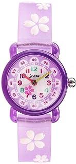 HEMOBLLO Plastic Kids Watch Flower Watch Birthday for Kids Children Students (Purple)
