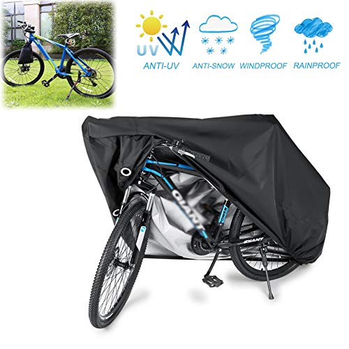 GZHENH-Rattan Furniture Covers Bicycle Cover Motorcycle Outdoor Mechanical Waterproof Dust Cover Wholesale, 4 Sizes (Color : Black, Size : 190x65x98cm)