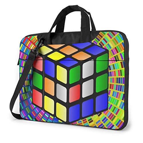 Cube Art Laptop Shoulder Bag Sleeve Case, Shockproof Laptop Briefcase Computer Bag