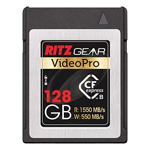 Ritz Gear Video Pro CFExpress Card 128 GB Tipo B (1550/550 lectura/escritura)