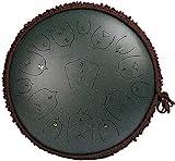 Tambor de Lengua de Acero, Lotus Handpan Drum fácil de aprender  Tambor de aleación de acero de titanio  El instrumento de percusión de la percusión de la lengüeta de acero de 15 pulgadas de 15 pulgad