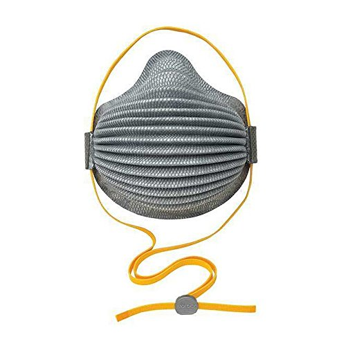 Moldex 4800 AirWave N95 Plus Nuisance OV Disposable Respirator with SmartStrap, 8/DP, Standard, Grey (Pack of 8)