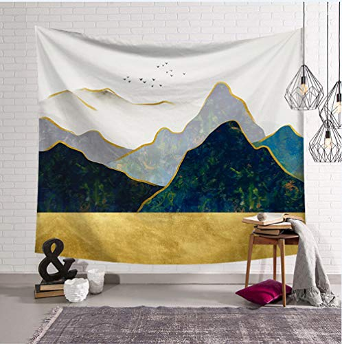 TJJY Psychedelic Forest Sun and Mountain Tapestry Wall Hanging Home Dorm Backdrop Decor Art Tapestry Urban Outfitters Wall Cloth-230 x180cm