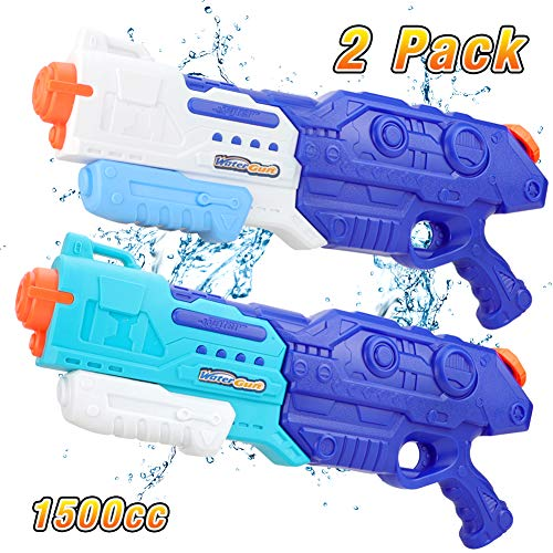 1500CC Squirt Water Gun for Kids Adults, Fast Trigger Water Soaker Blaster Pistol for Boys Girls...