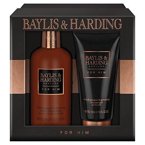 Baylis & Harding Coffret Homme 2 Pièces Poivre Noir et Ginseng